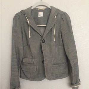 Urban outfitters tweed hooded jacket small
